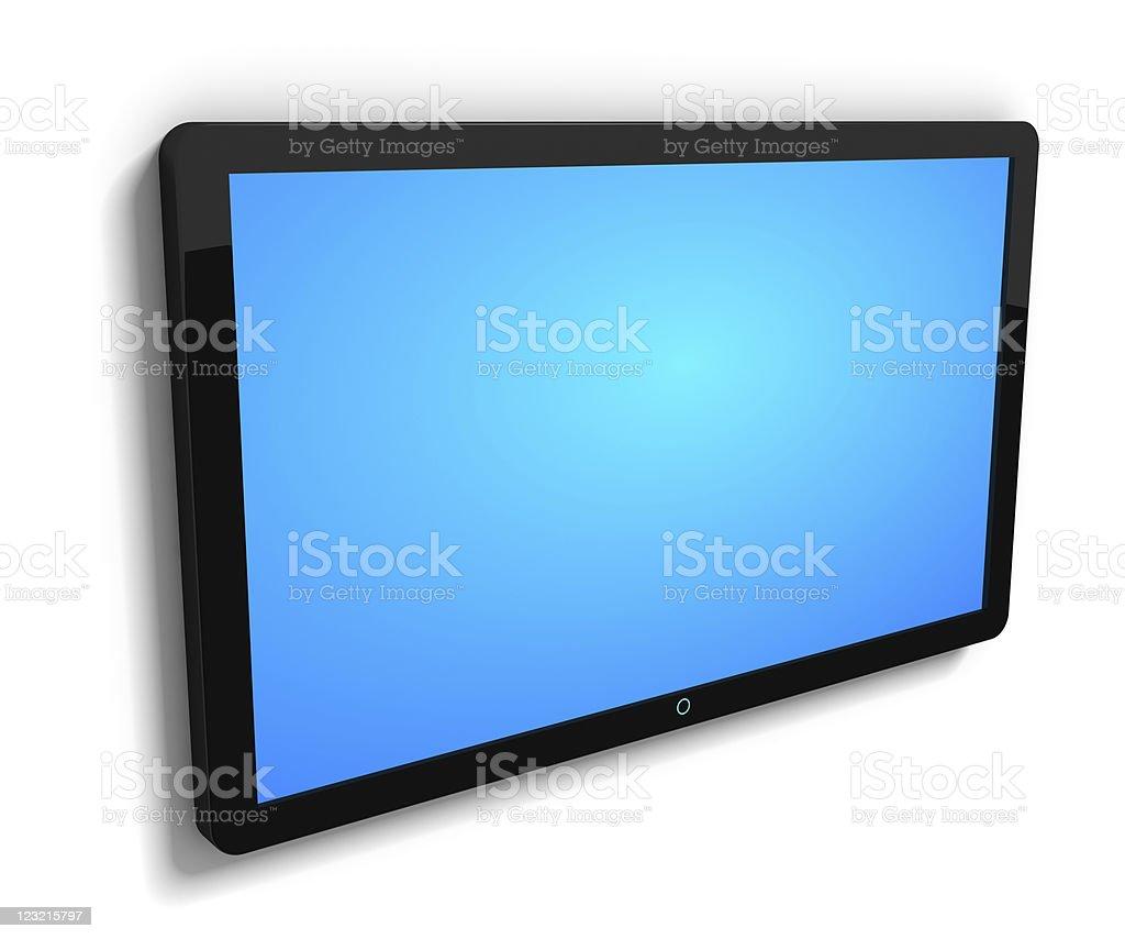 LCD TV vector art illustration