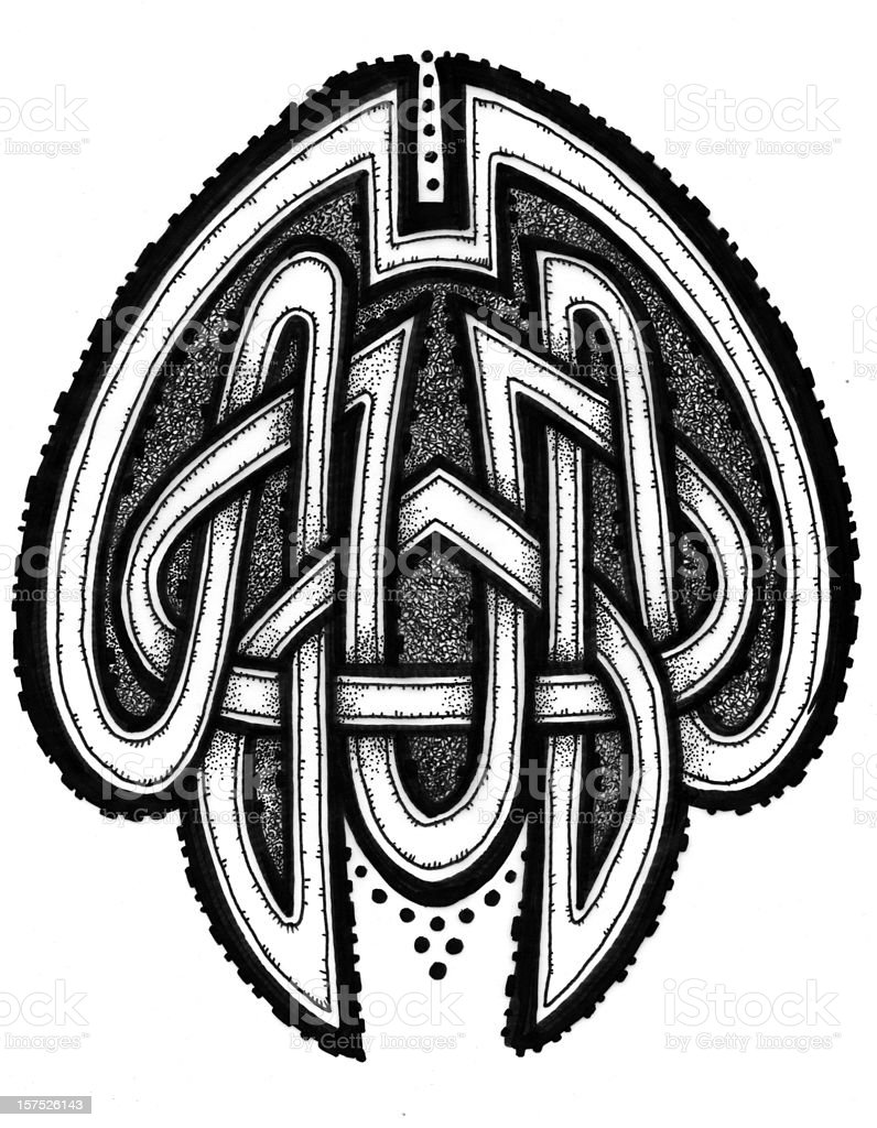 CELTIC KNOTWORK 2 royalty-free stock vector art