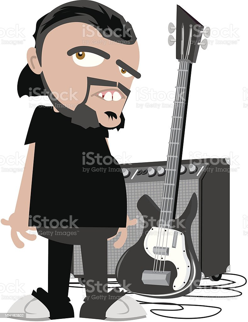 FUNNY GUITAR PLAYER royalty-free stock vector art