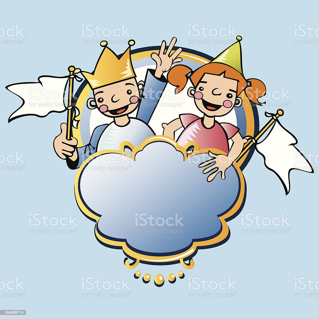 PARTY KIDS royalty-free stock vector art