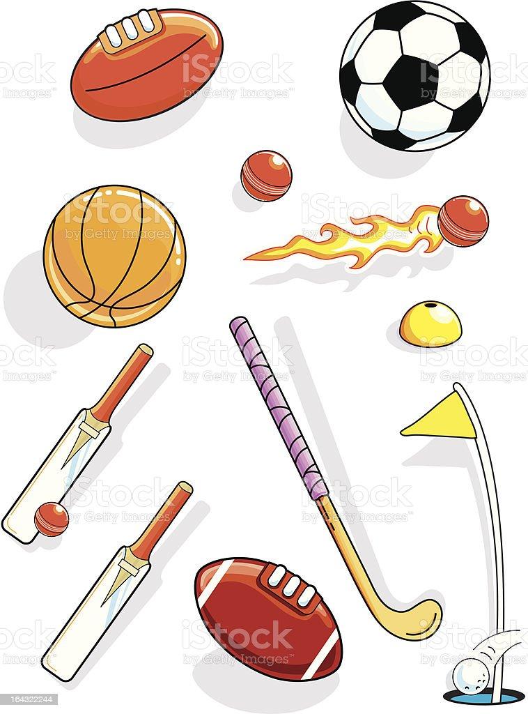 BALL SPORTS GEAR vector art illustration