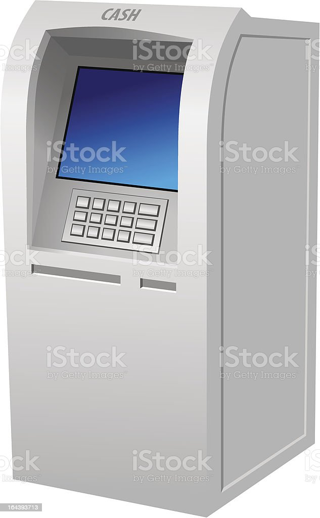 ATM royalty-free stock vector art