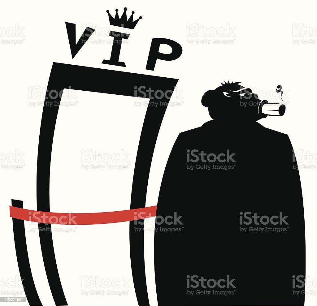 VIP vector art illustration