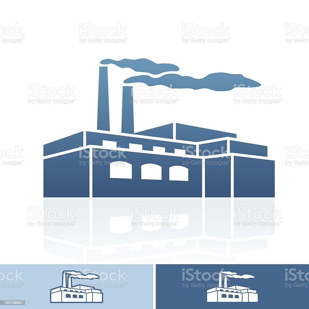FACTORY ICON vector art illustration