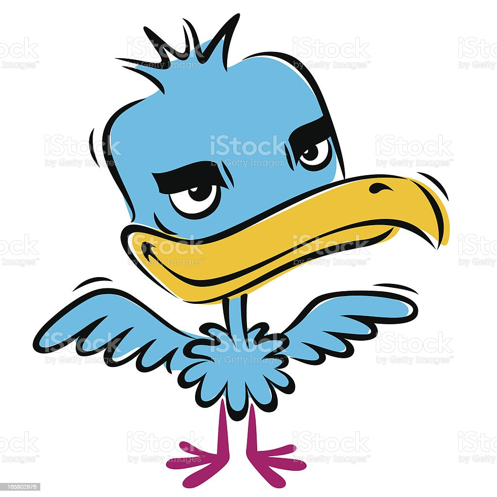 BLUE BABY BIRD royalty-free stock vector art