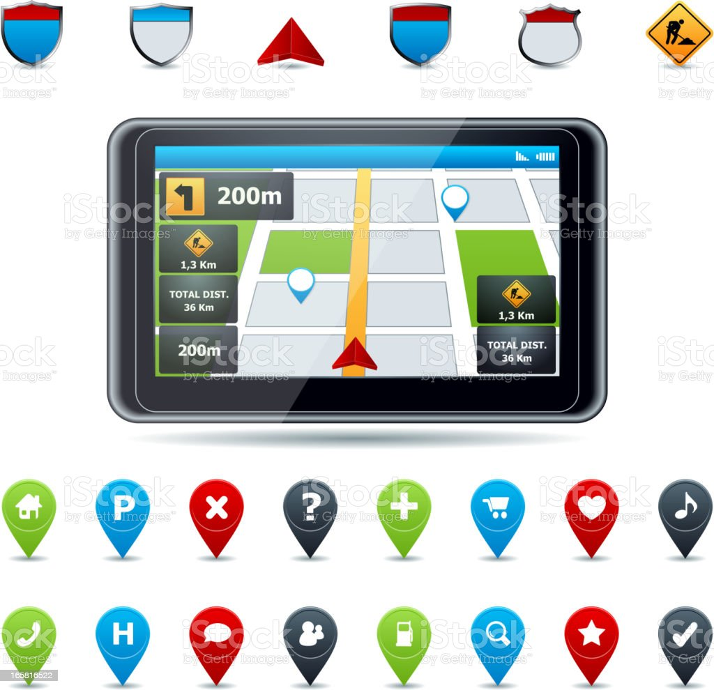 GPS royalty-free stock vector art