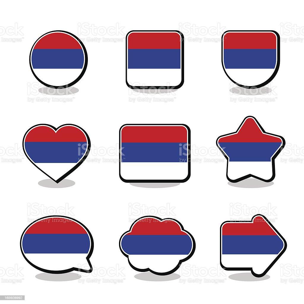 SRPSKA FLAG ICON SET royalty-free stock vector art