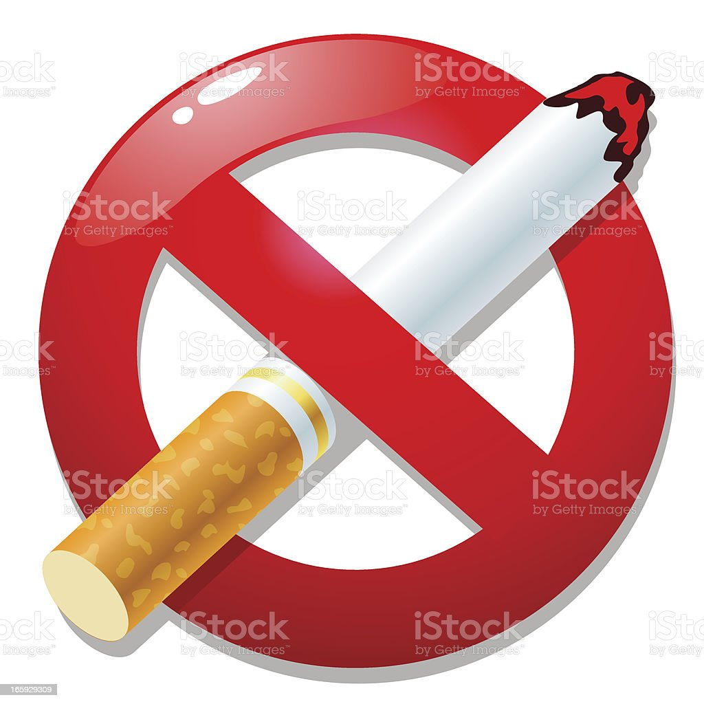 NO SMOKING SYMBOL vector art illustration