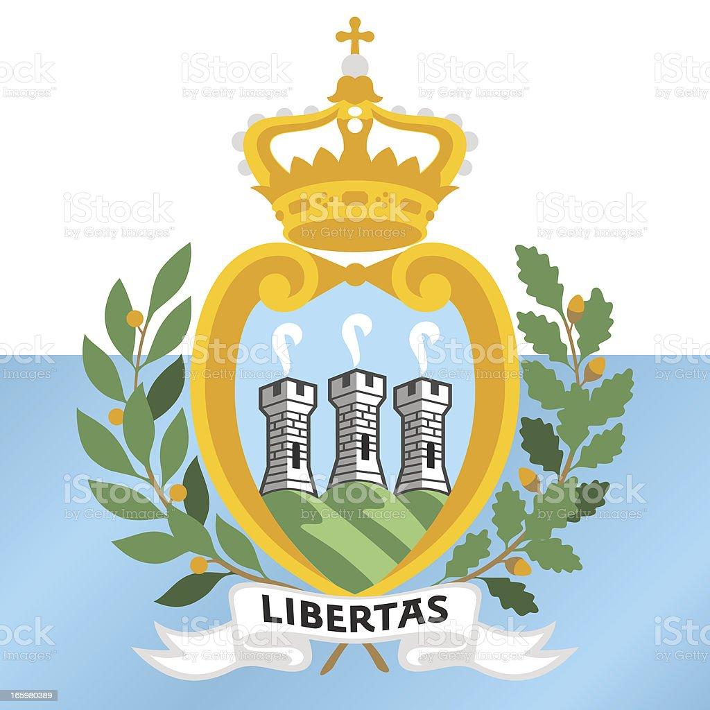 SAN MARINO COAT OF ARMS royalty-free stock vector art