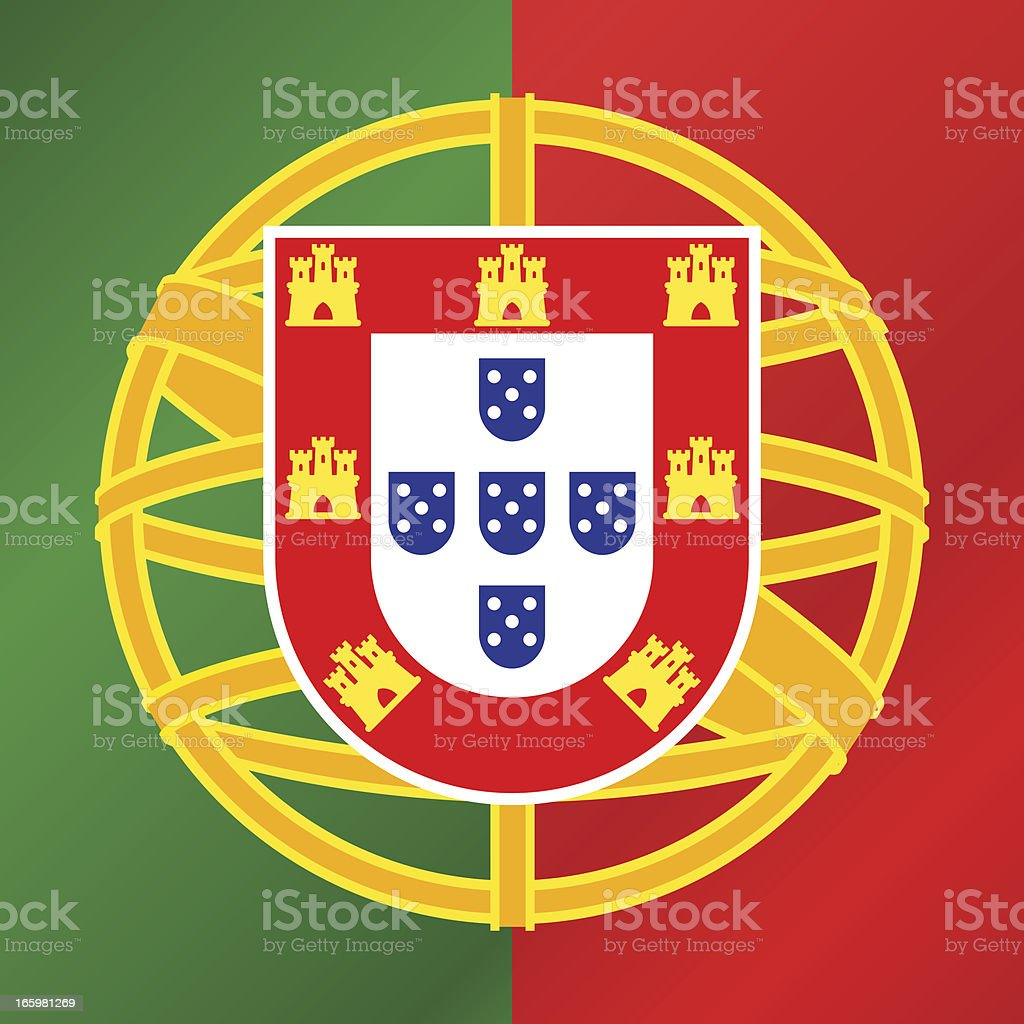 PORTUGAL COAT OF ARMS royalty-free stock vector art