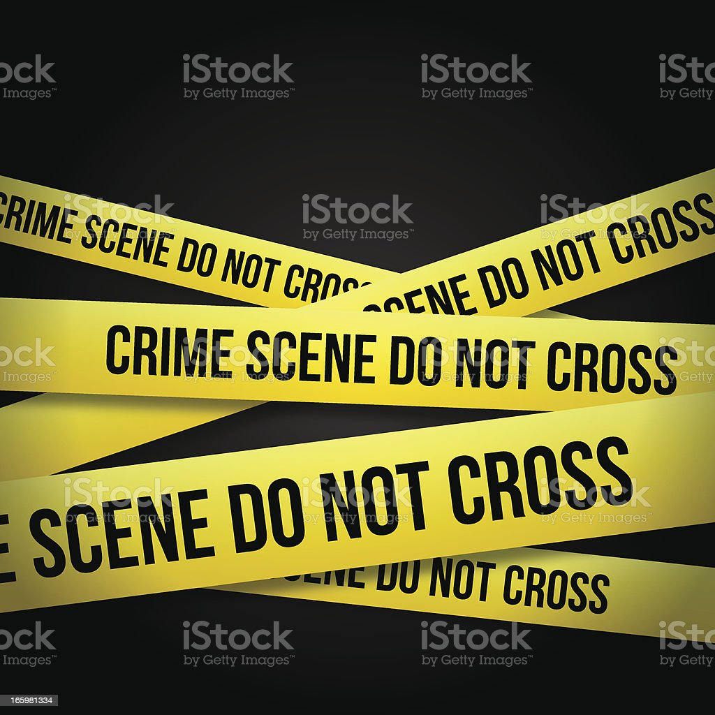 POLICE TAPE vector art illustration