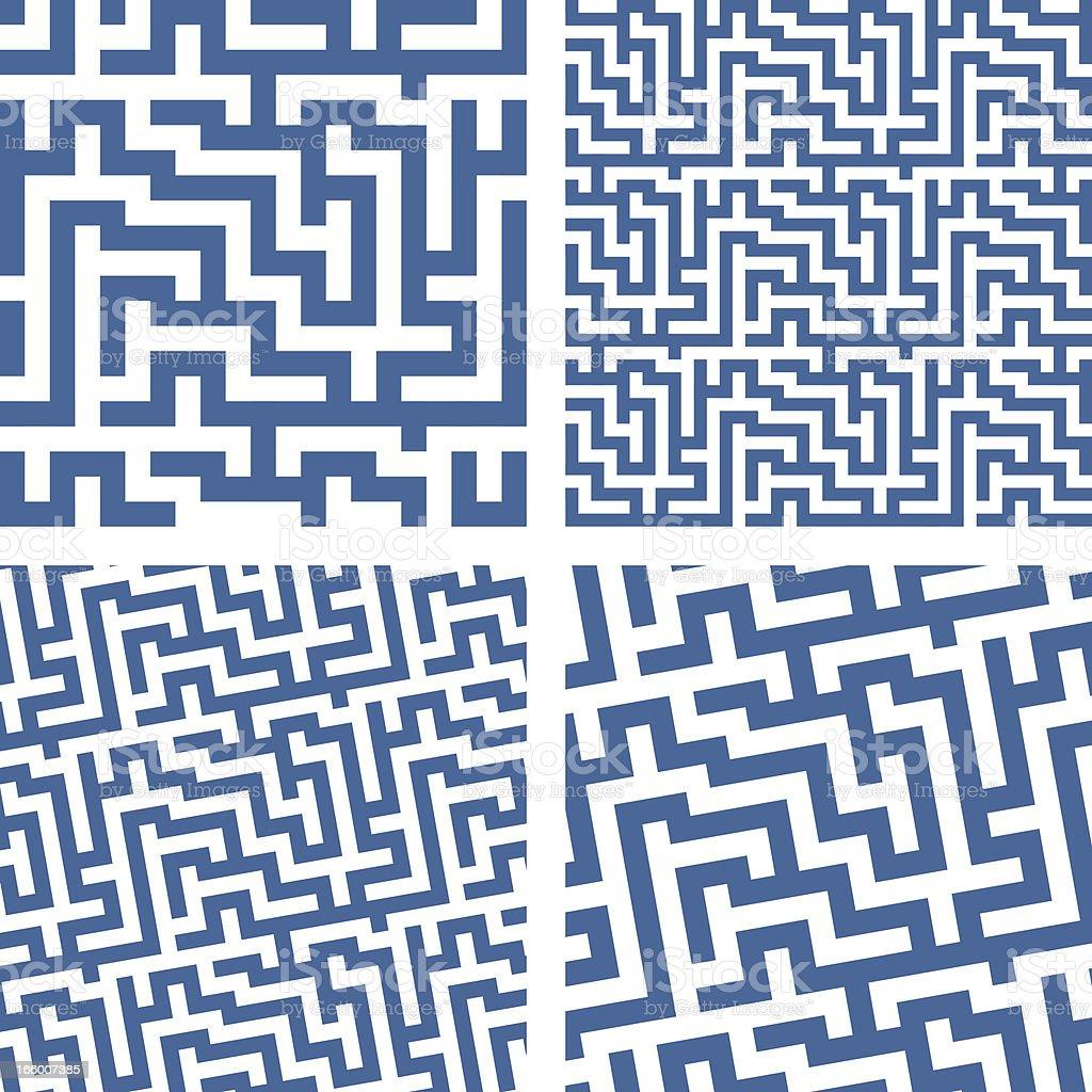 BLUE LABYRINTH royalty-free stock vector art