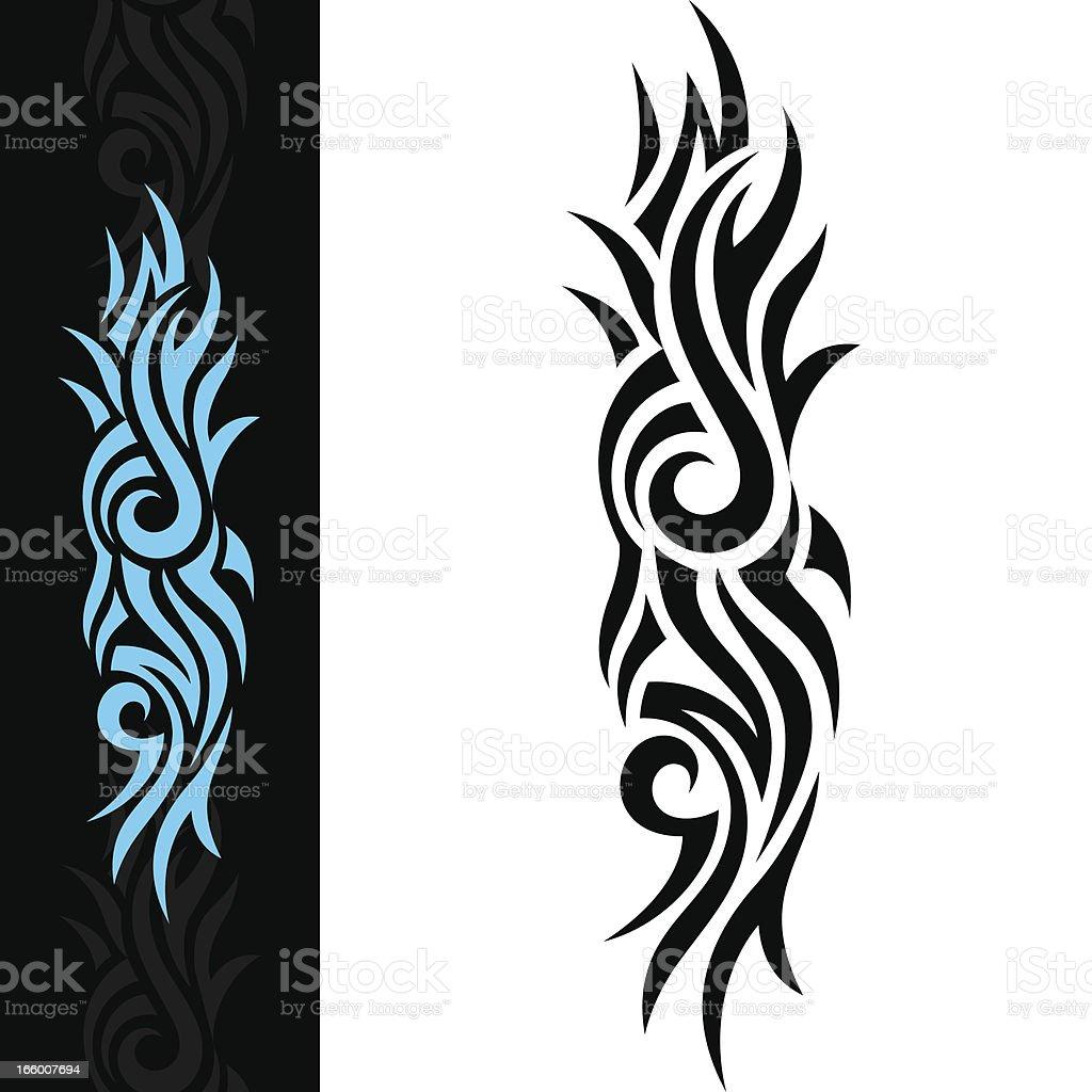 BLUE TATTOO royalty-free stock vector art