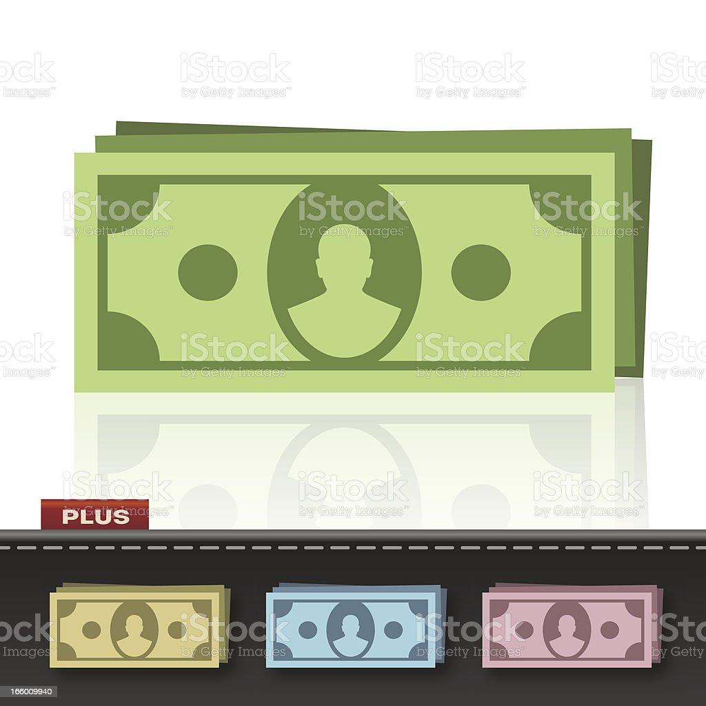 MONEY CASH vector art illustration