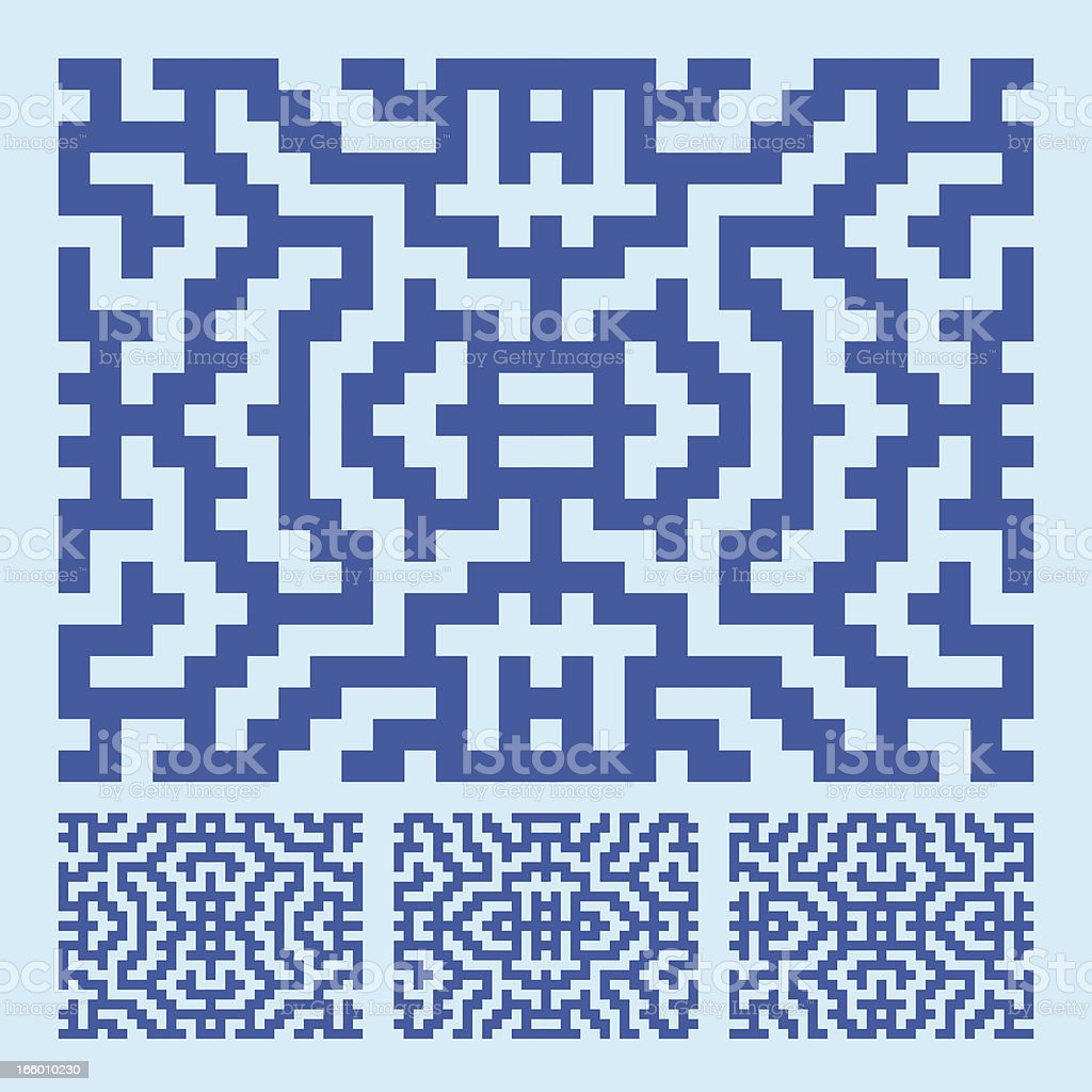 BLUE LABYRINTH PATTERN royalty-free stock vector art