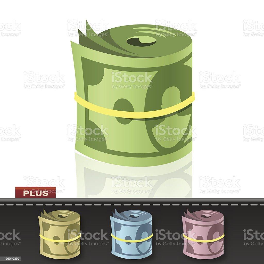 MONEY ROLL royalty-free stock vector art