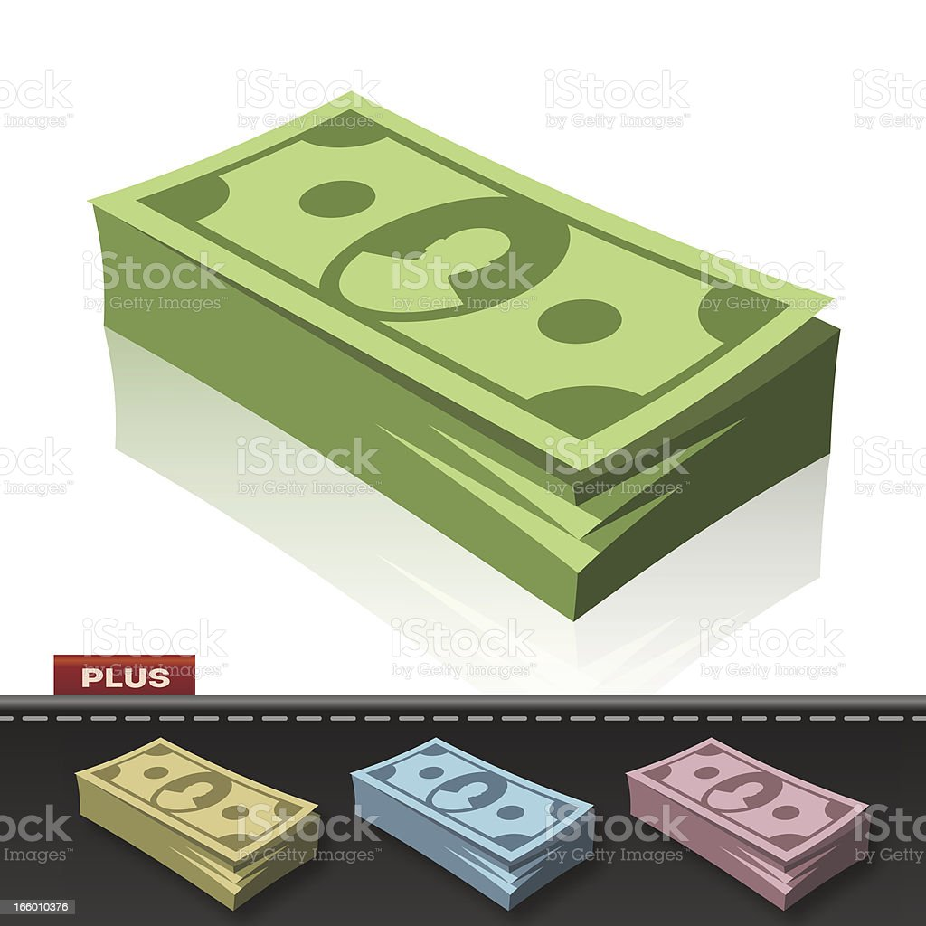 MONEY PACK royalty-free stock vector art