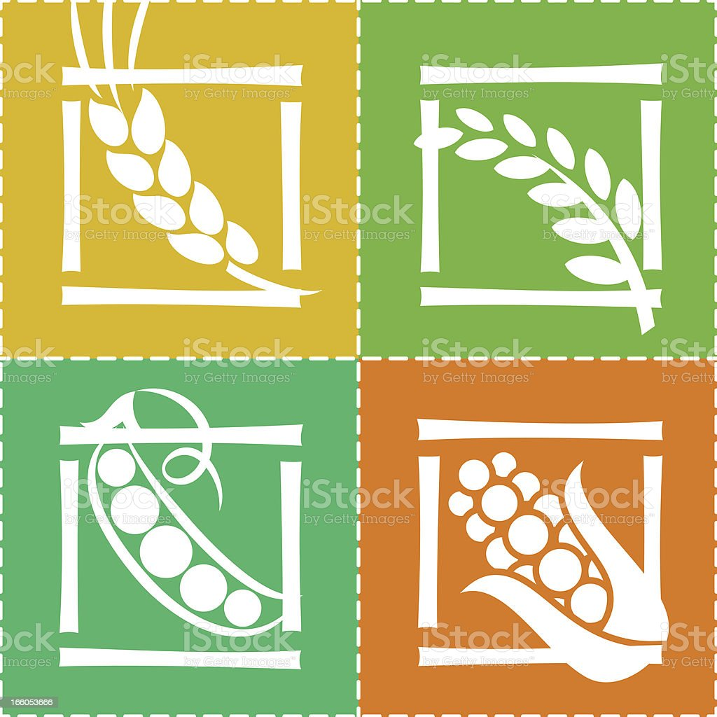CEREAL ICON SET royalty-free stock vector art