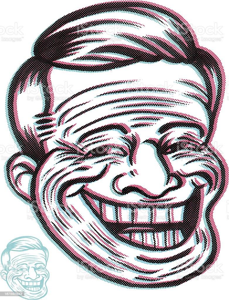 RETRO TROLL SMILE royalty-free stock vector art