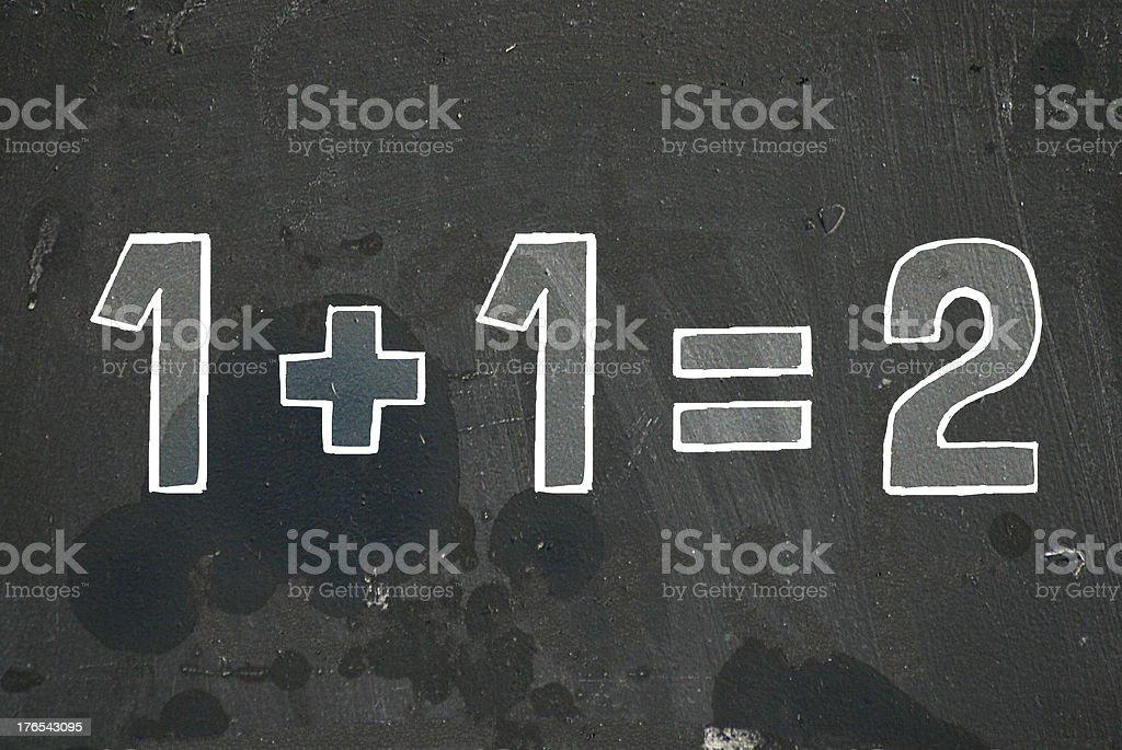 1+1=2 vector art illustration