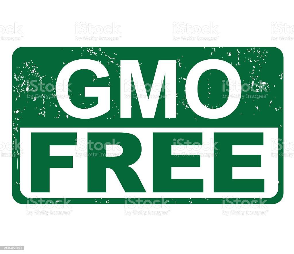 GMO FREE vector art illustration