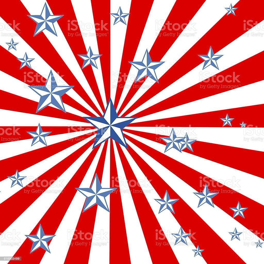USA vector art illustration