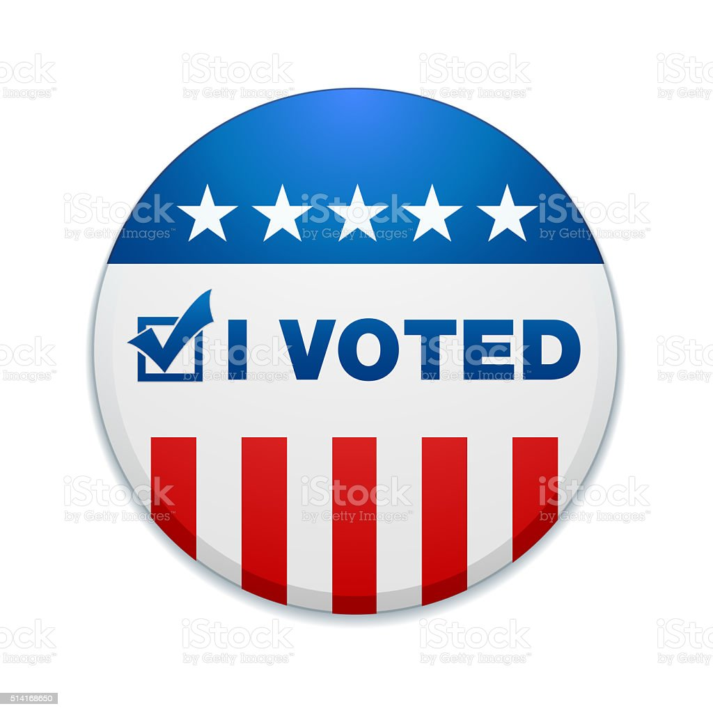 I VOTED vector art illustration