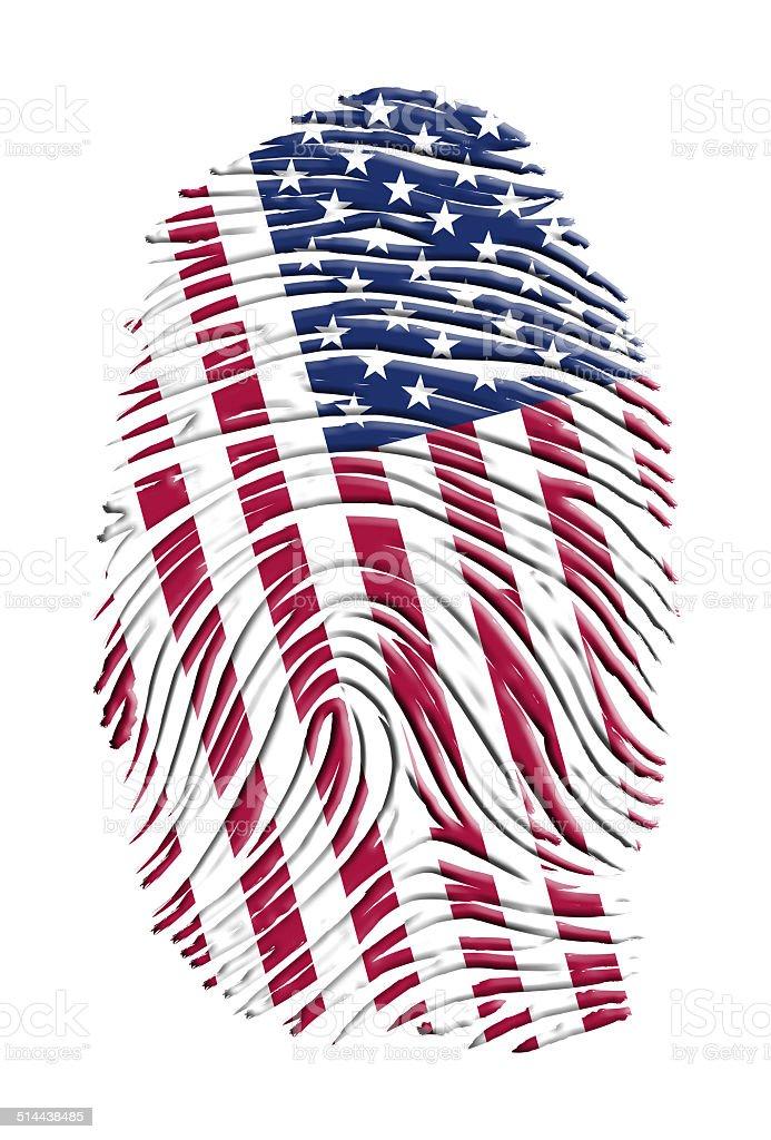 USA FINGERPRINT vector art illustration