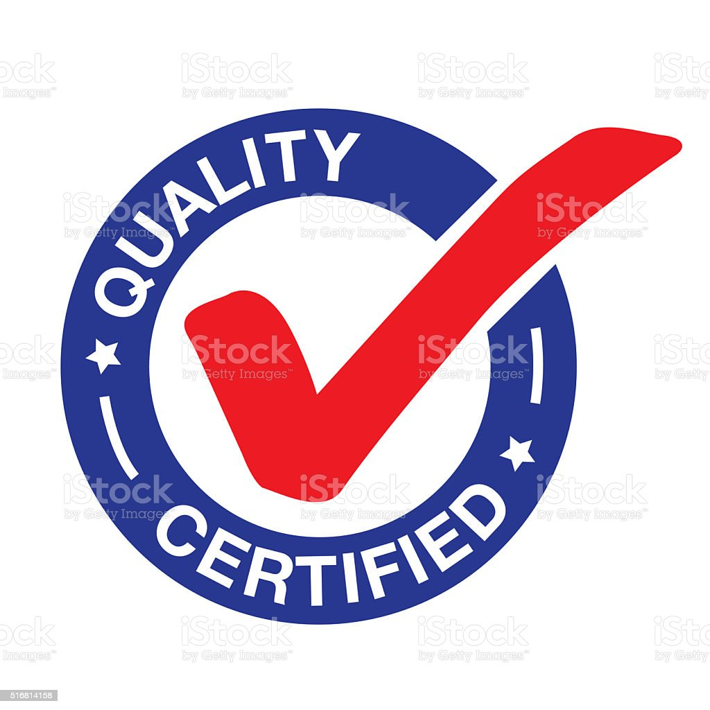 QUALITY CERTIFIED vector art illustration