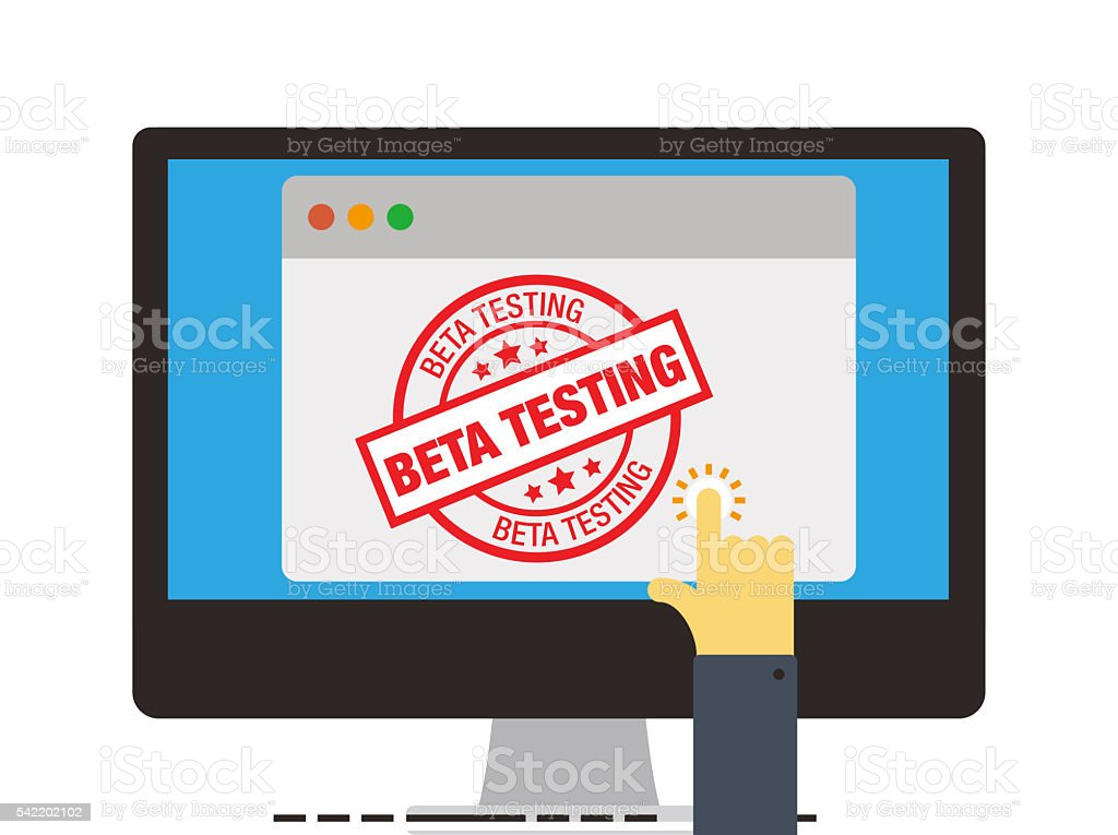 BETA TESTING vector art illustration