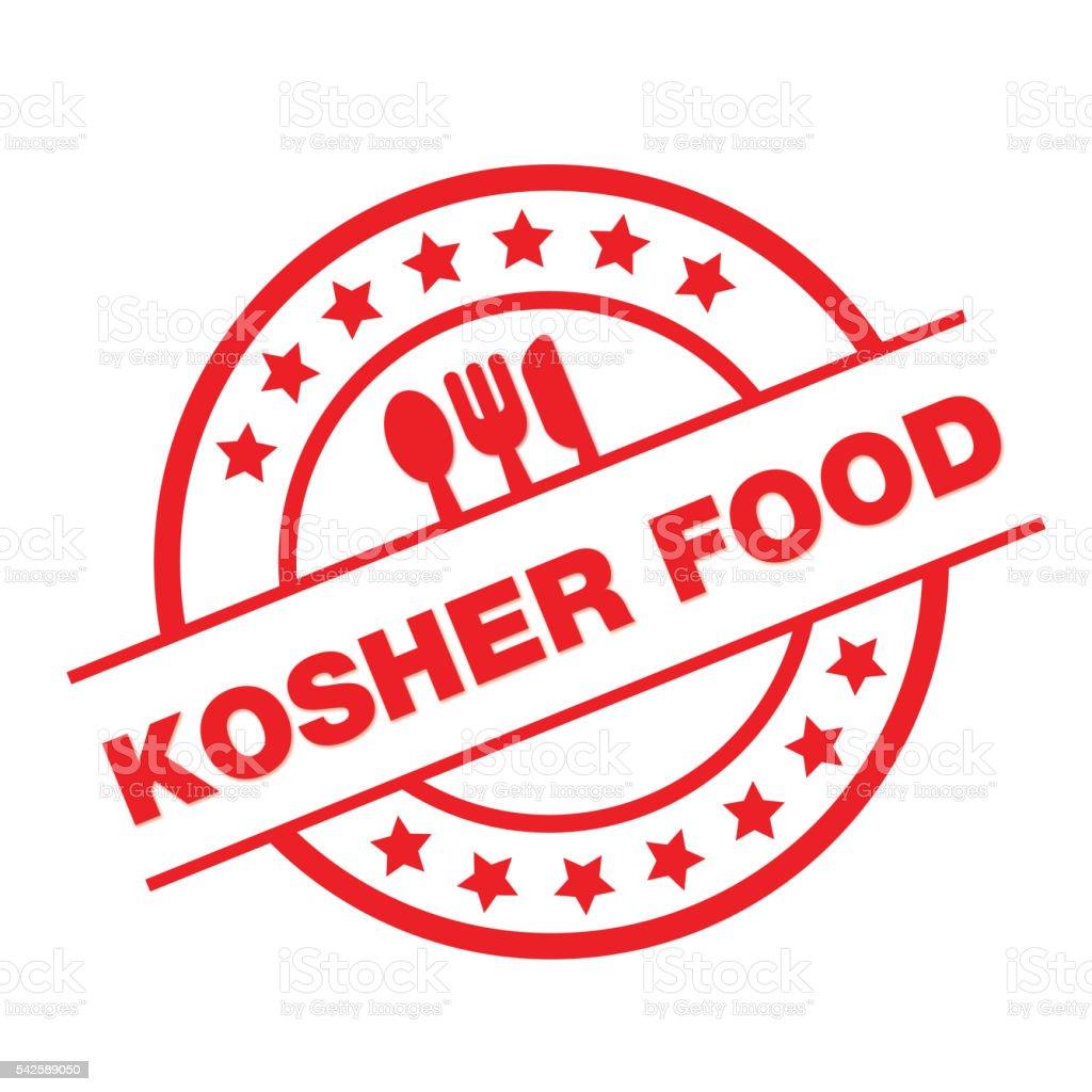 KOSHER FOOD vector art illustration