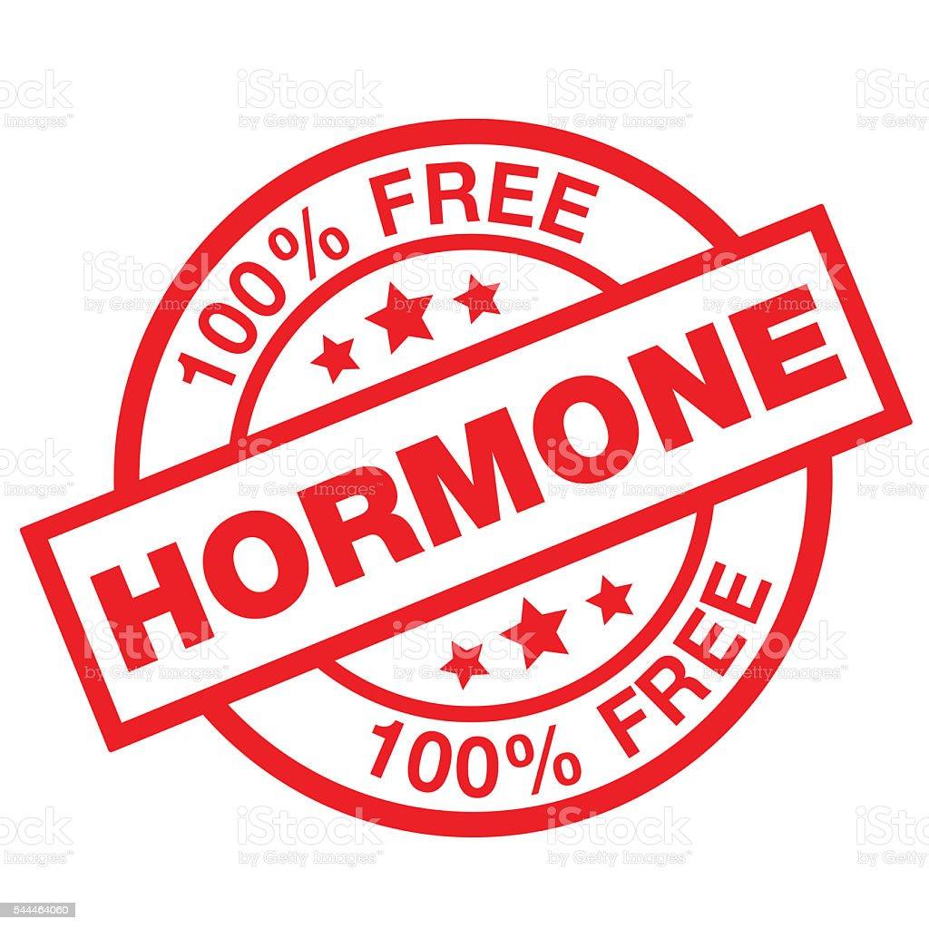 HORMONE FREE vector art illustration