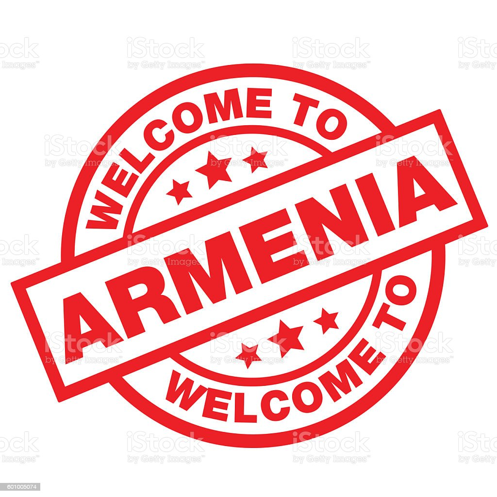 WELCOME TO ARMENIA vector art illustration