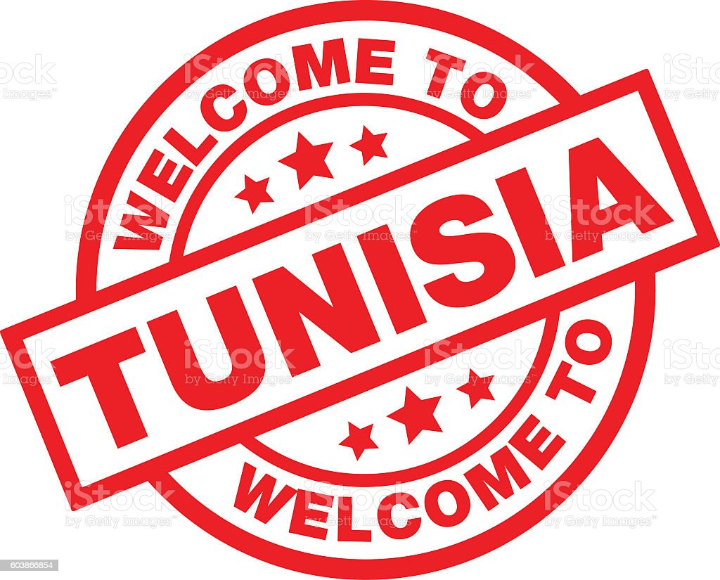 WELCOME TO TUNISIA vector art illustration