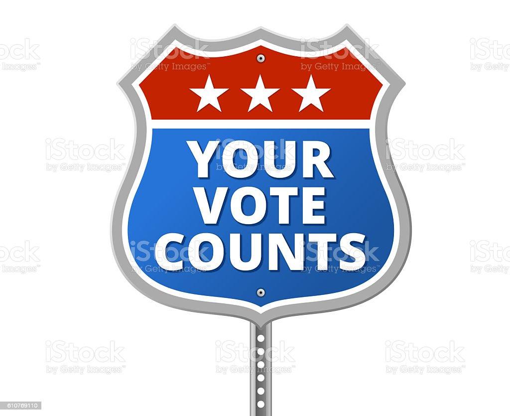YOUR VOTE COUNTS vector art illustration