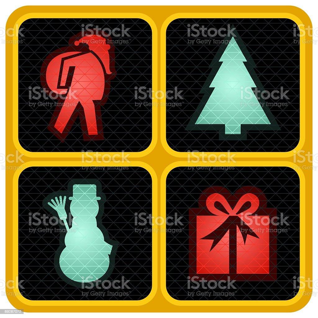 CHRISTMAS TRAFFIC LIGHTS royalty-free stock vector art