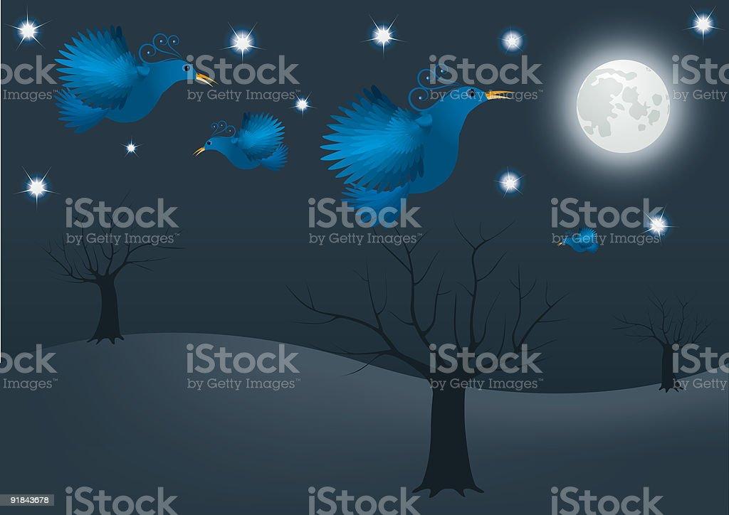 NIGHT BIRD royalty-free stock vector art