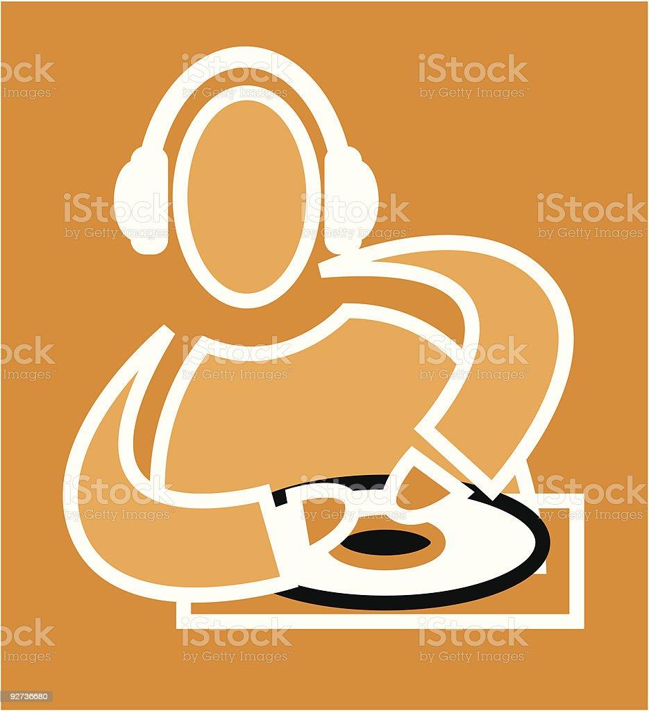 DJ royalty-free stock vector art