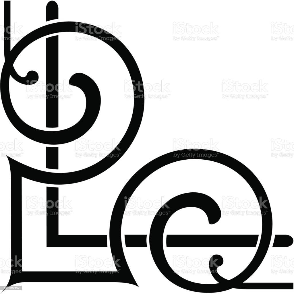 120a-scroll (Corner) royalty-free stock vector art