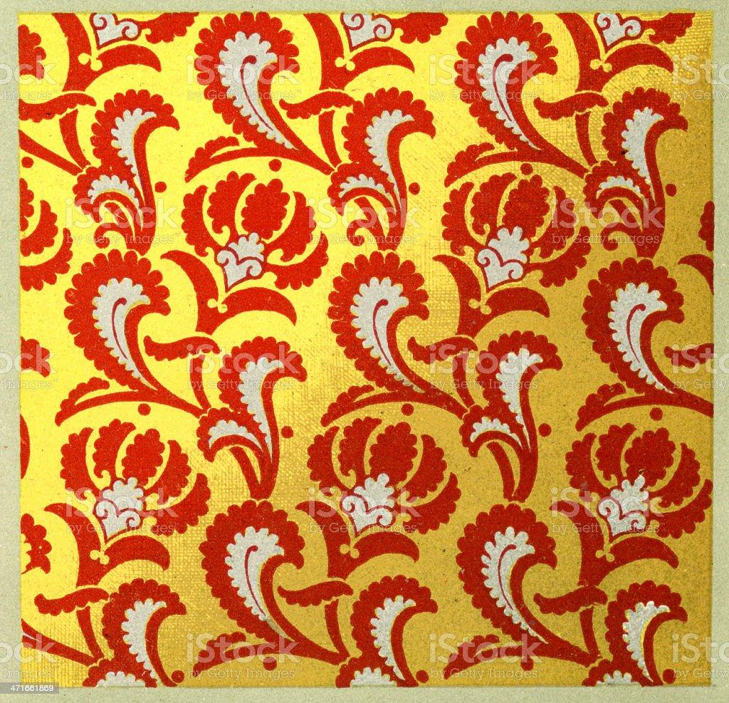 14th Century Pattern royalty-free stock vector art