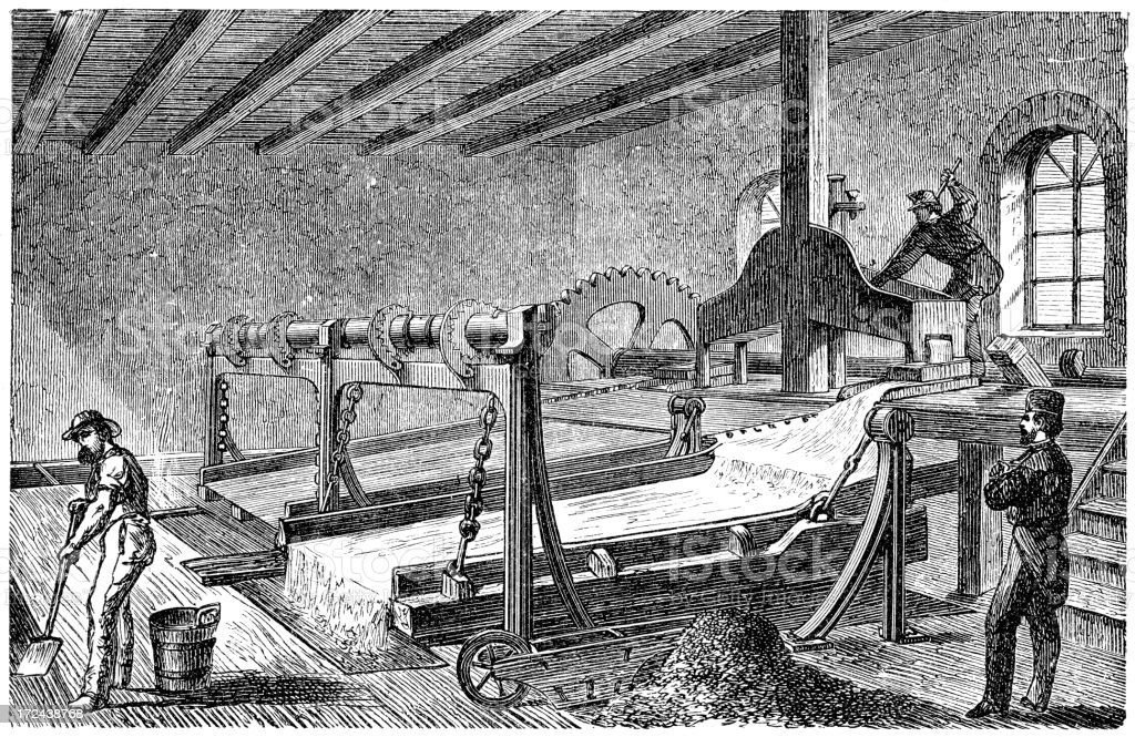 19th Century Mine royalty-free stock vector art