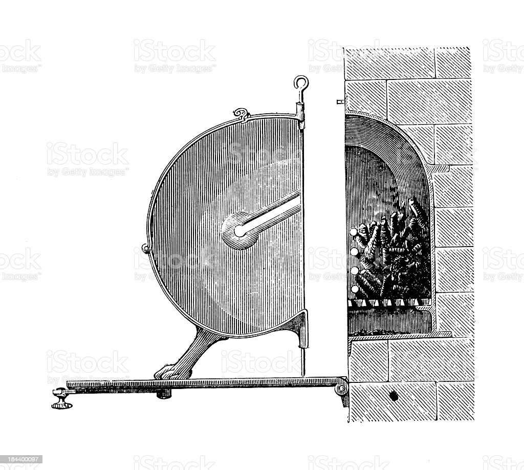 19th-century grill   Antique Culinary Illustrations royalty-free stock vector art