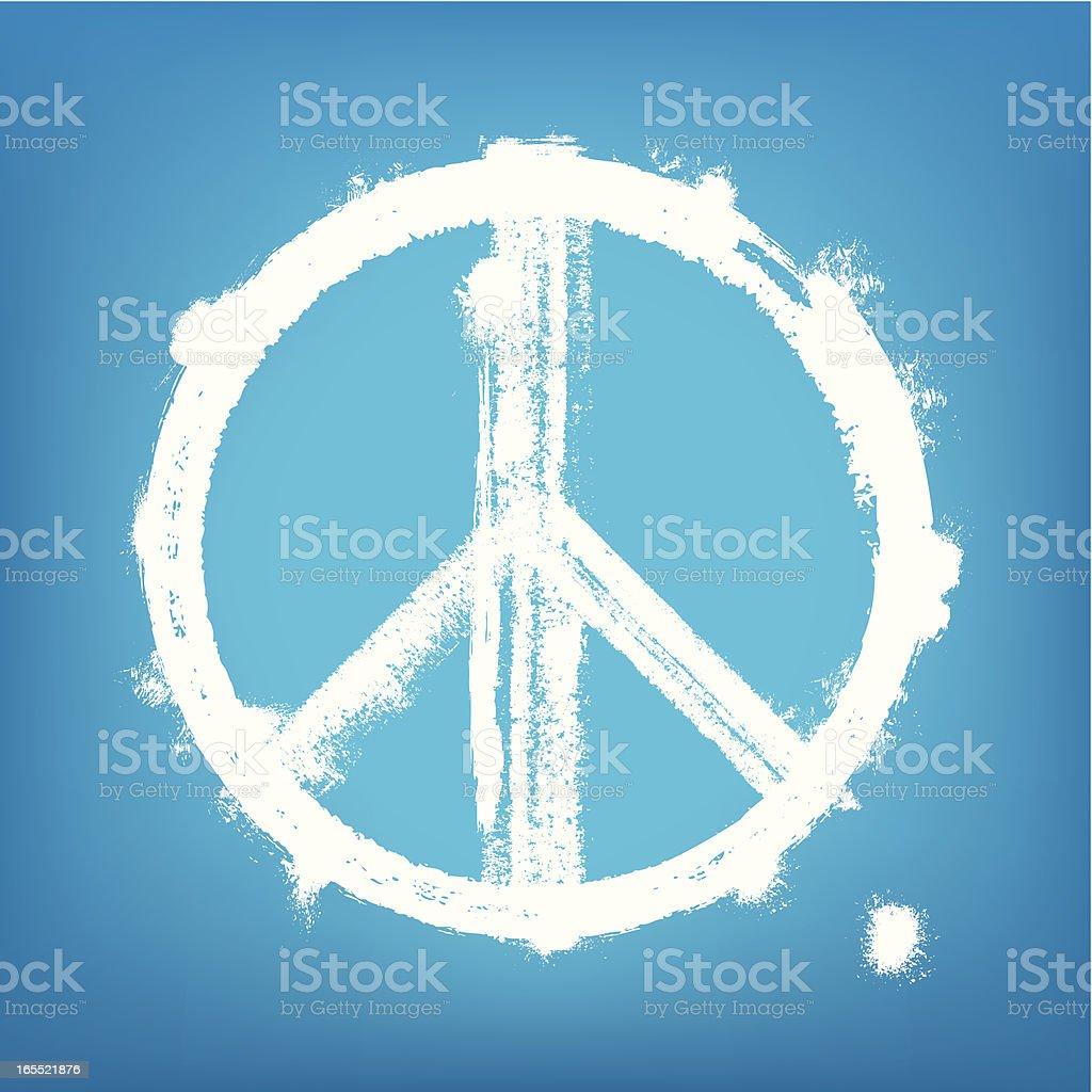 1-credit peace sign vector art illustration