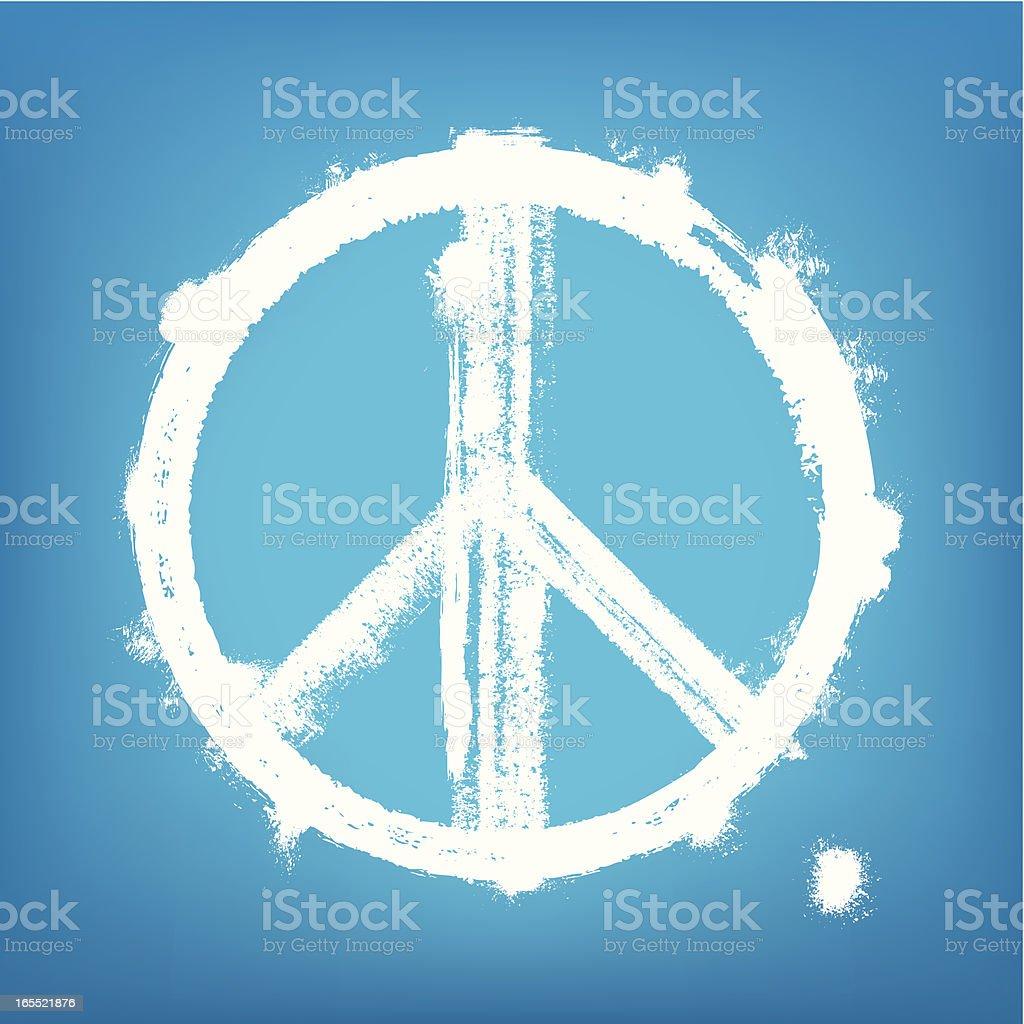 1-credit peace sign vector art illustration