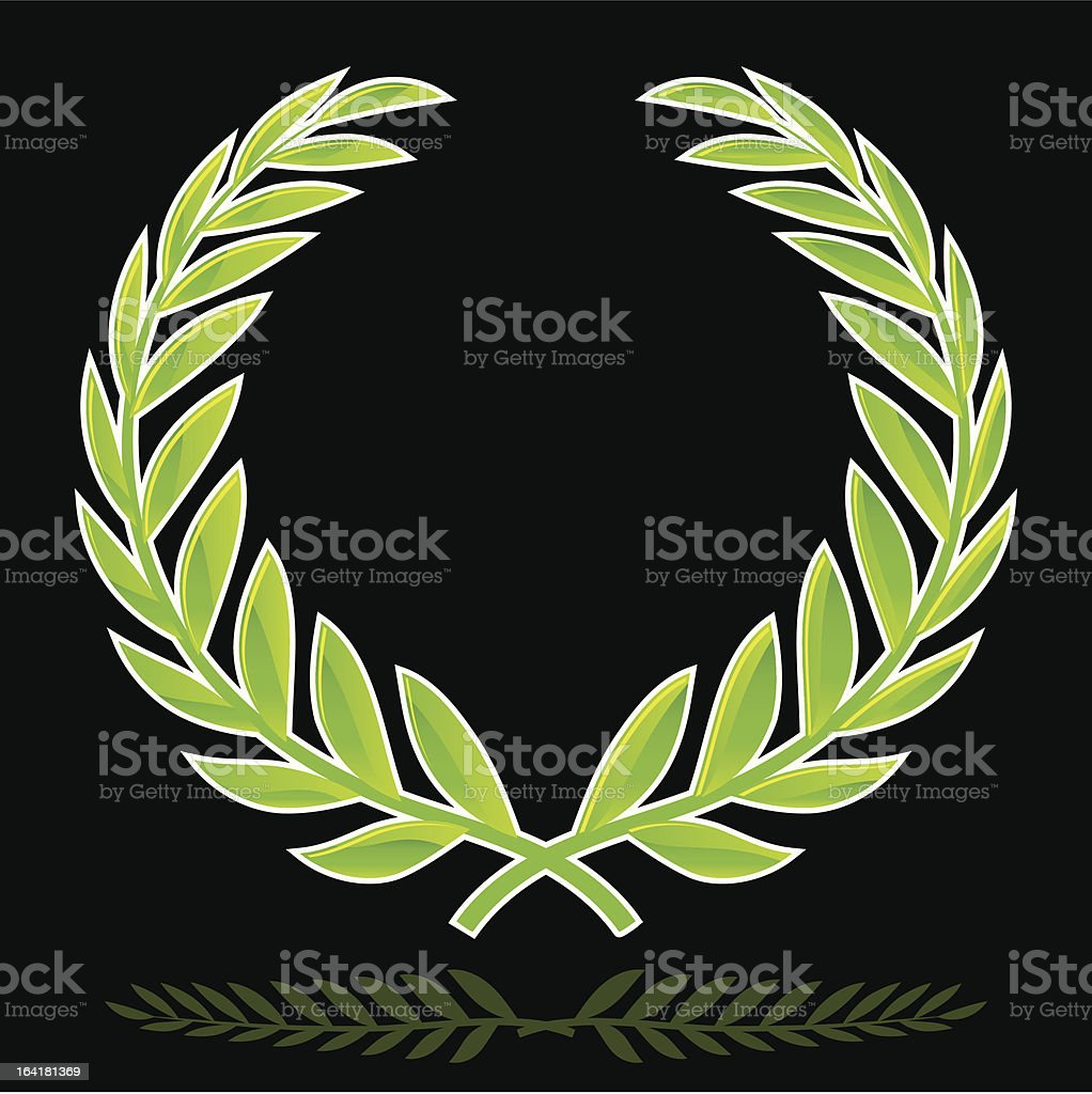 1-credit wreath vector art illustration