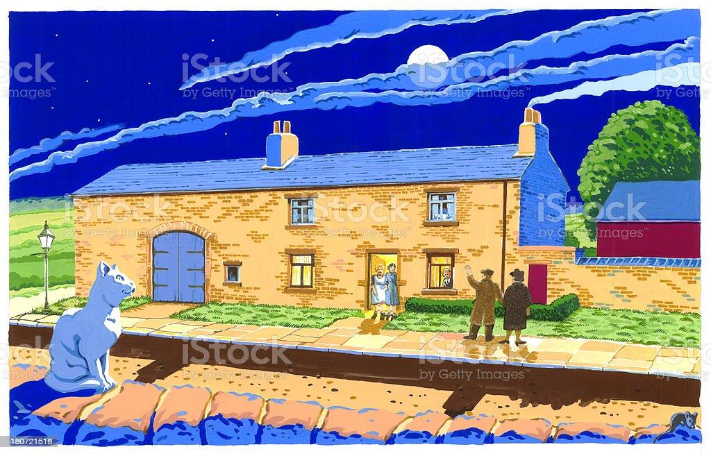 33a Moorside royalty-free stock vector art