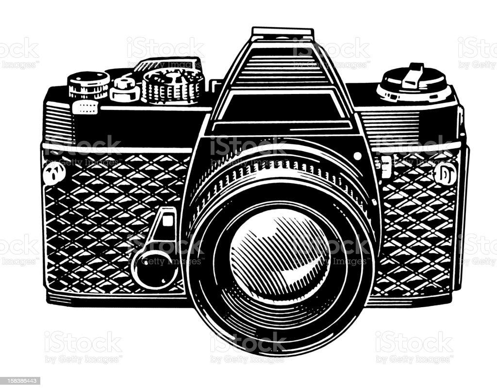 35mm Camera vector art illustration