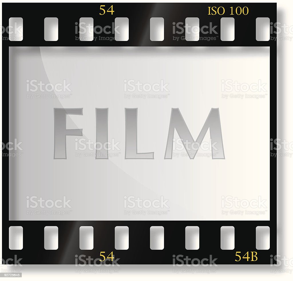 35mm film royalty-free stock vector art