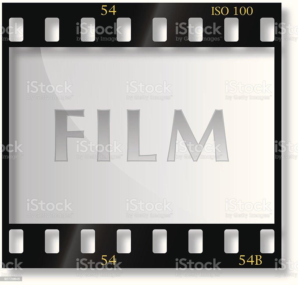 35mm film vector art illustration
