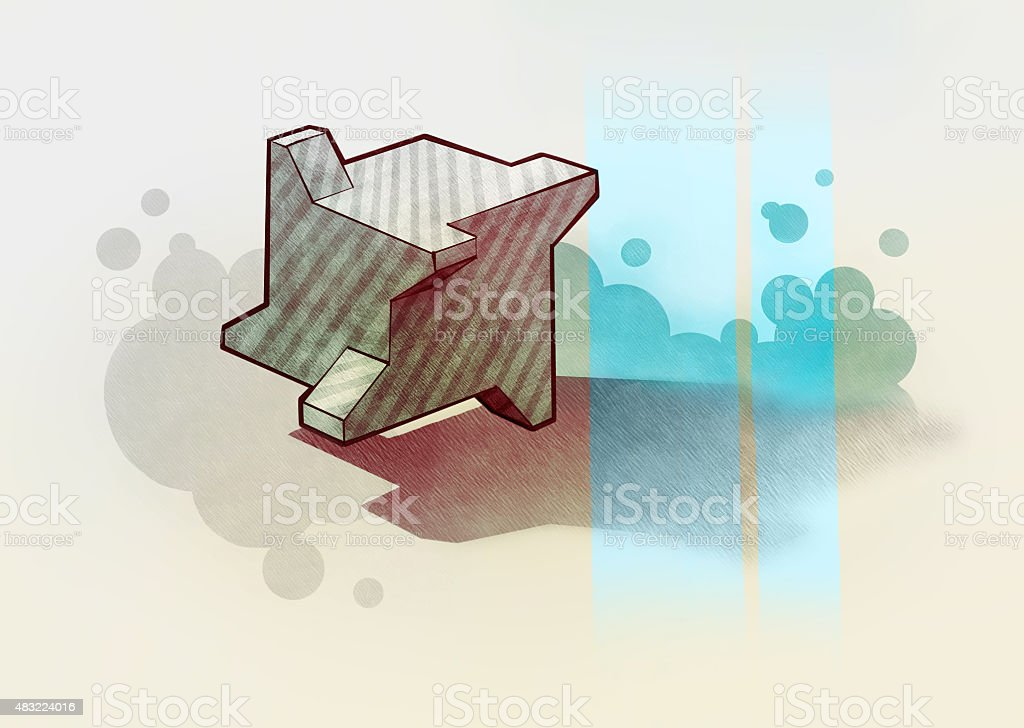 3d abstract background vector art illustration
